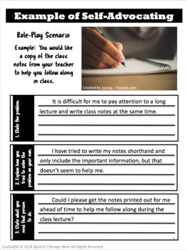Worksheet Self Advocacy   Worksheets   Elementary Students therapy self advocacy role play activity for high school students speech students