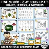 Play Dough Mats • Muti-Sensory Learning • Shapes, Letters,