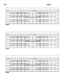 Speech Therapy Session Data Sheet