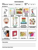 Speech Therapy Session Note for Parents