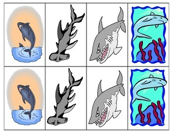 Speech Therapy Shark Game- Medial /pl/ & /bl/ -- In French & English