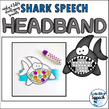 Speech Therapy Shark Headband Craft for Early and Later Developing Sounds