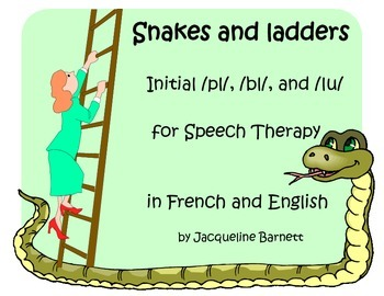 Speech Therapy Snakes & Ladders initial /pl/ /bl/ & /lu/ in French and English