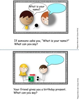 Speech Therapy Social Communication Pragmatics What To Say