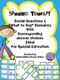 Speech Therapy Social Communication Questions What to Say & Answers Cards Autism