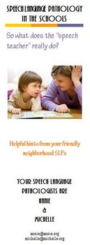 Speech Therapy: Speech Language Pathology in the Schools Brochure