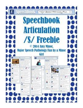 Speech Therapy: Speechbook Artculation /s/ freebie