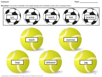 Speech Therapy Sports: Language, Articulation, & Social Pragmatics