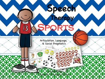 Speech Therapy Sports Bundle: Language, Articulation, & So