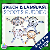 Speech Therapy Sports Crafts with Print and Go Speech Ther