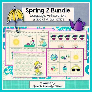 Speech Therapy Spring 2 Bundle: Language, Articulation, & Social Pragmatics