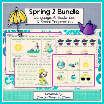 Speech Therapy Spring 2 Bundle: Language, Articulation, &
