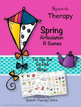 Speech Therapy Spring Articulation R Games