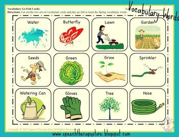 Speech Therapy Spring Language Bundle