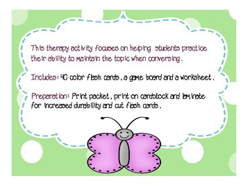 Speech Therapy Spring Topic Maintenance