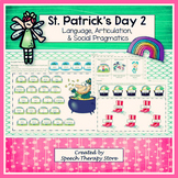 Speech Therapy St. Patrick's Day 2: Language, Articulation, & Social Pragmatics