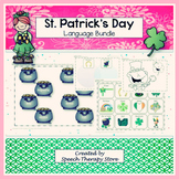 Speech Therapy St. Patrick's Day Language Bundle