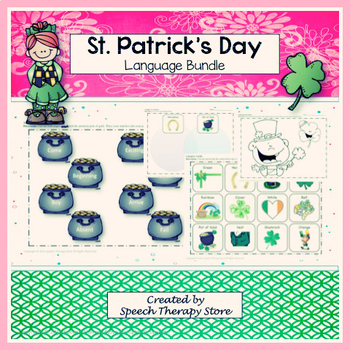Speech Therapy St. Patrick's Day Language Bundle