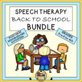 Speech Therapy Back to School Bundle