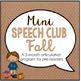 Speech Therapy Starter Pack- Fall Activities