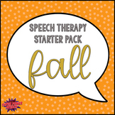Speech Therapy Starter Pack- Fall Activities