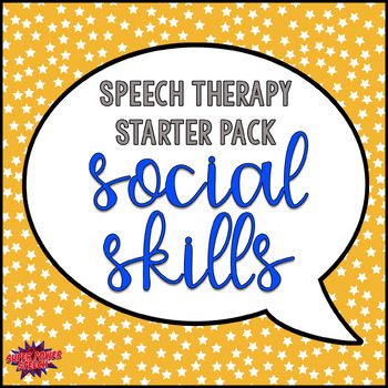 Speech Therapy Starter Pack- Social Skills