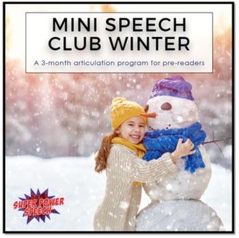 Speech Therapy Starter Pack- Winter Activities
