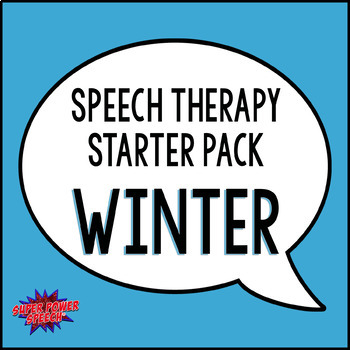 Speech Therapy Starter Pack- Winter Activities