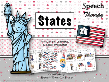 Speech Therapy States Bundle: Language, Articulation, & Social Pragmatics
