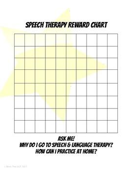 Speech Therapy Sticker Chart