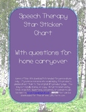 Speech Therapy Sticker Chart