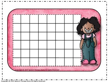 Speech Therapy Sticker Reward Charts