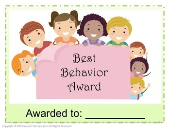 Speech Therapy Student Awards for the Month, Quarter, Term, Semester, or Year
