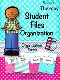 Speech Therapy Student File Organization Forms
