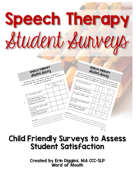 Speech Therapy Student Surveys