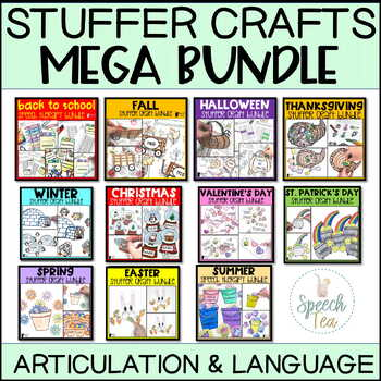 Speech Therapy Stuffer Craft MEGA BUNDLE