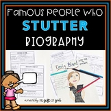 Speech Therapy Stuttering Activities: Famous People Who Stutter Biography