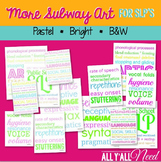 Speech Therapy Subway Art in Pastels and Brights