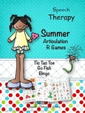 Speech Therapy Summer Articulation R Games
