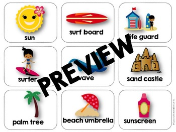 Speech Therapy Summer Bonanza Bundle Vocabulary Categories Flash Cards Game More