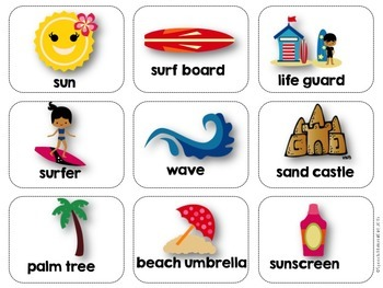 Speech Therapy Summer Bundle Prepositions Vocabulary Language Games