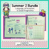 Speech Therapy Summer Homework 2: Language, Artic, Social Pragmatics