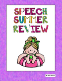 Speech Summer Review