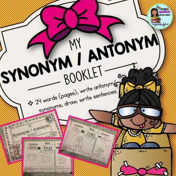 Speech Therapy Synonym Antonym MY BOOKLET draw & write sentences