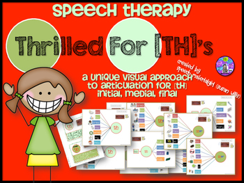 Speech Therapy TH Articulation Graphic Organizers Visual Initial Medial Final