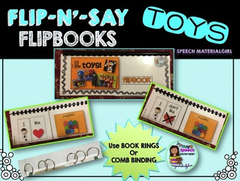 Speech Therapy TOYS Flipbook booklet I see categories Autism