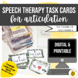 Speech Therapy Digital & Printable Task Cards for Articulation