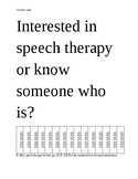 Speech Therapy Tear Off Flyer