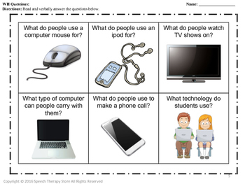 Speech Therapy Technology Bundle: Language, Articulation, & Social Pragmatics