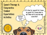 Speech Therapy & Telepractice Student Expectations Activities (Standard/iPad)